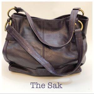 The Sak PurplePebbled Leather Hobo Bag